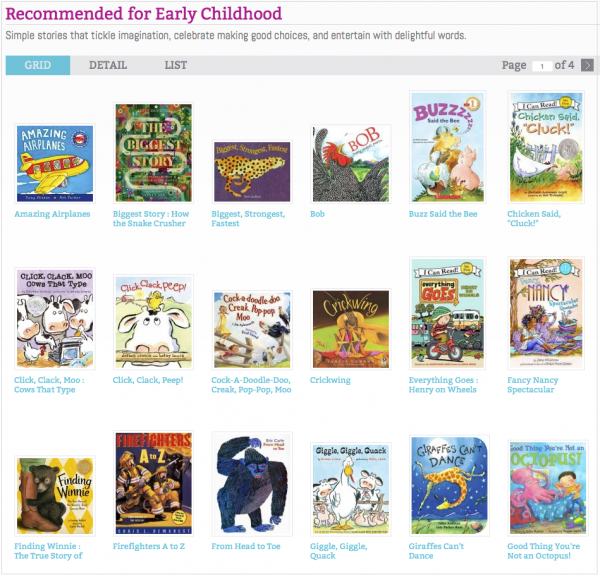Early Childhood Book Recommendations